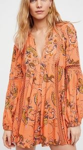 Free People Just the Two of Us Paisley Tunic